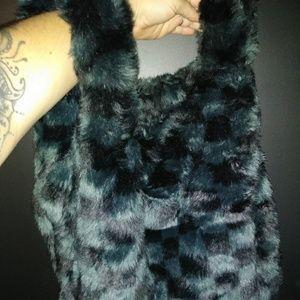 Kendal And Kylie Faux Fur shopper